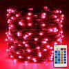 ZDM 10M/33ft 100PCS Dimmable with Remote Control Waterproof Silver Thread LED - RED
