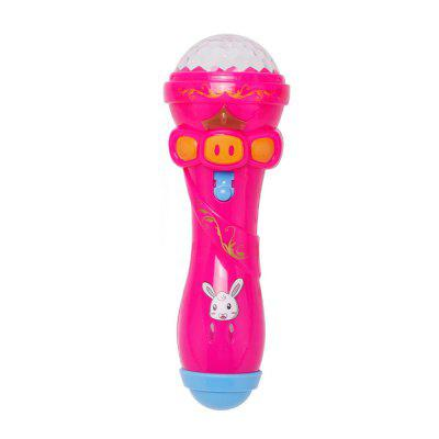 Emulated Music Toys Funny Lighting Wireless Microphone Model