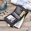 JINBAOLAI Multi-function Double Zipper Casual Men Wallet - BLACK