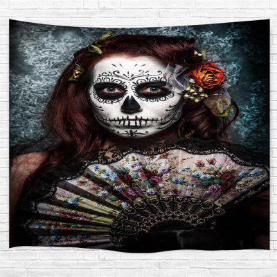 Skull-Faced Woman 3D Printing Home Wall Hanging Tapestry for Decoration