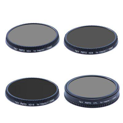 CPL+ND4+ND8+ND16 Filter Kit for DJI UAV Inspire 1/Osmo Drone