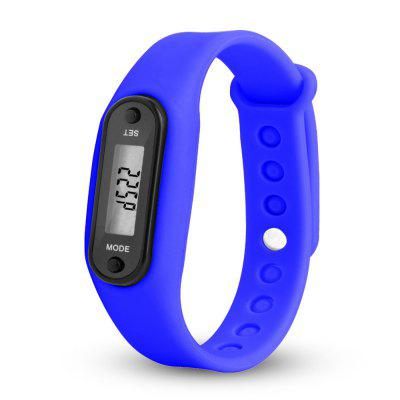 Sport Watch Digital LCD Silicone Band Pedometer Distance Calorie Counter