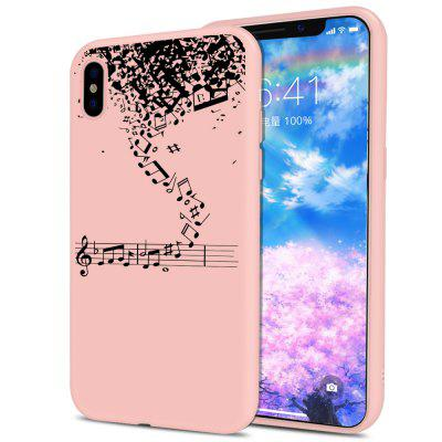 Note Pattern Candy Color Crystal Lanyard Soft  Case for iPhone X