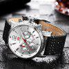 MINI FOCUS Fashion Sport Quartz  Brand Men Watches Luxury Famous Male Clock - WHITE