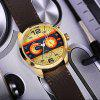 MINI FOCUS Men's Fashion Sport Watch with Stainless Steel Round Dial Leather - MULTI-A