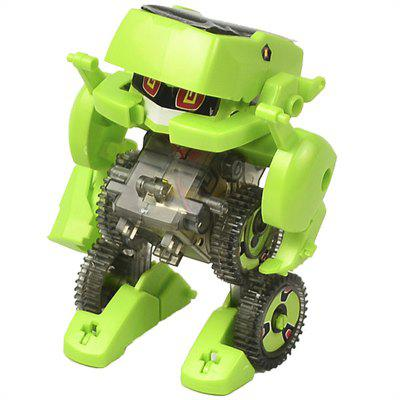 4 In 1 Solar Energy Transformation Driller Robot Toys DIY