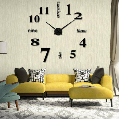 Modern / Contemporary Stainless Steel Round Indoor AA Wall Clock
