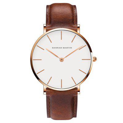 Hannah Martin CB01 Men Ultra-thin Casual Business Waterproof Quartz Watch