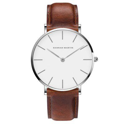 Orologio da quarzo impermeabile Hannah Martin CB01 Men Ultra-thin Business Casual