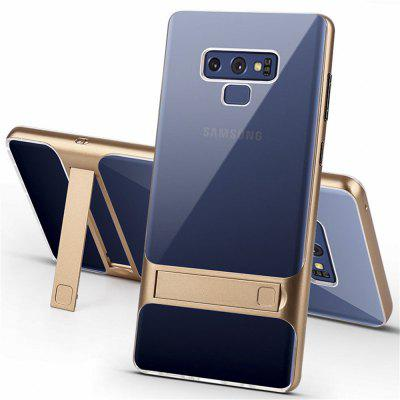 Transparent TPU PC Protective Kickstand Cover Case for Samsung Galaxy Note 9