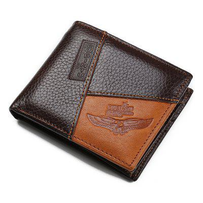 GUBINTU Genuine Leather Creative Personality Wallet