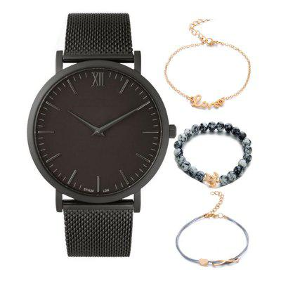 New Design Creative Fashion Bracelet Chronograph Quartz Watch Set