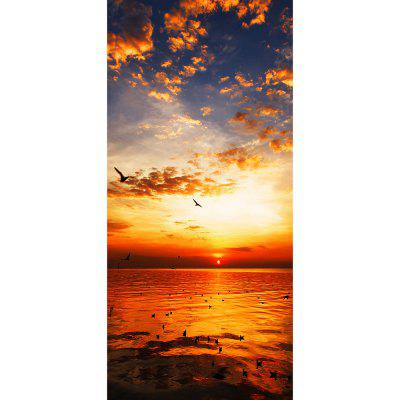 MailingArt 3D HD Blejtram Naklejki ścienne na drzwi Mural Home Decor Sunset birds