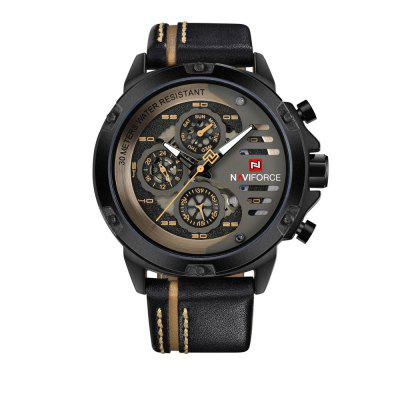 NAVIFORCE Men Top Brand Luxury Waterproof 24 Hour Date Quartz Watch