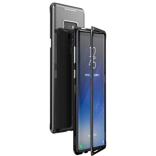 new arrival e6b80 4fa2e Magnetic Adsorption Metal Tempered Glass Cell Phone Cover for Samsung Note 9