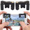 2 in 1 Mobile Game Trigger Controller Fire Button Gamepad L1R1 Aim Key Joystick - ZWART