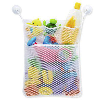 Bath Toy Organizer Folding Hanging Container Mesh Net Storage Bag and Hooks
