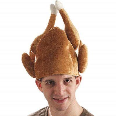 Funny Adults Hat Thanksgiving Day Roasted Turkey  Cute Party Festival Caps
