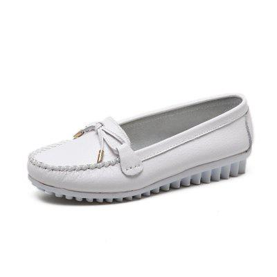 Womens Fashion Casual Light Weight Leather Loafers Shoes
