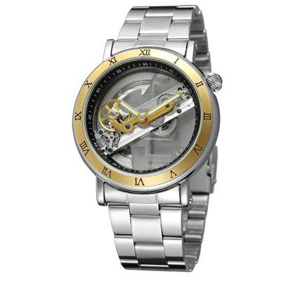 FORSINING Automatic Mechanical Dial Hollow Skeleton Mens Waterproof Watches