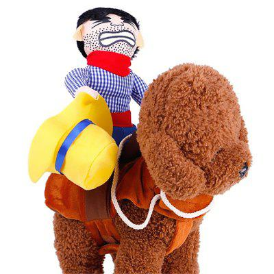 Cowboy Rider for Dogs Outfit Knight Style with for Halloween Day Pet Costume