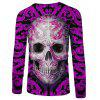 Men's Fashion New 3D Personality Skull Print Long-sleeved T-shirt - MULTI-E