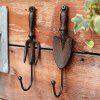 Creative and Vintage Cast Iron Hook 2-PIECE Set - DEEP COFFEE