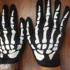 YEDUO  Halloween Horror Skeleton Ghost Claw Gloves - BLACK