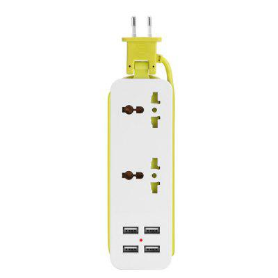Smart Extension Socket Outlet Portable Travel Power Strip Surge 4 USB 5V 2A