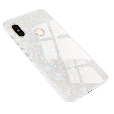 TPU Edge Hard Toughened Glass Protective Back Cover Case for Redmi Note 5 Pro