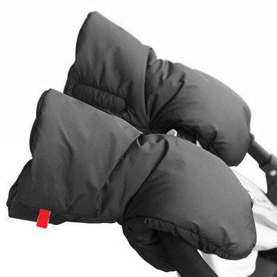 Stroller Hand Muff Extra Thick Winter Waterproof Anti-Freeze Gloves for Parents
