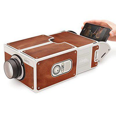 Portable Family / Couple Theatre Film Cardboard Phone Projector