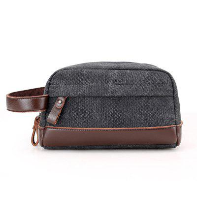 Canvas Handbag Coin Purse Traveling Bag for Men