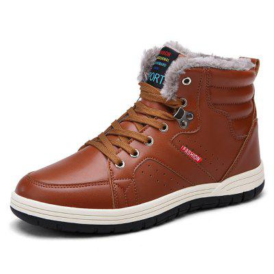 Winter Casual  Leather Snow Boots For Men