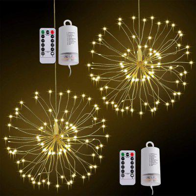 ZDM 2PCS Lámpara Blanco Cálido Impermeable 120 LEDs Starburst Luces LED Fuegos Artificiales