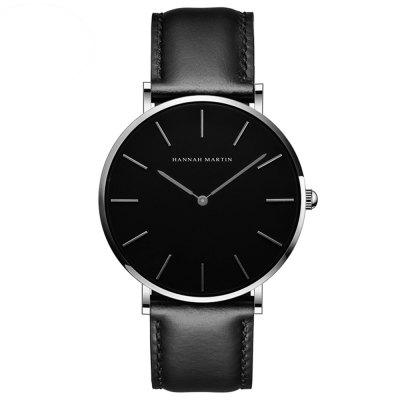 Hannah Martin Simple Fashion Japanese Movement Casual Quartz Herenhorloge voor Heren
