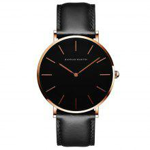 Hannah Martin Simple Fashion Ιαπωνική κίνηση Ανδρικό Casual Quartz Leather Watch