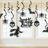 13 Set Glitter Haunted House Люстра Halloween Party Decorating Kit - Чёрный