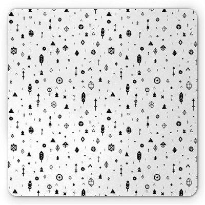 Non  Slip Rubber Gaming Black   White Dot  Mousepad