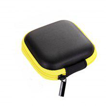 Zippered Storage Bag Keep Headphones Hard Case for SD Card Area