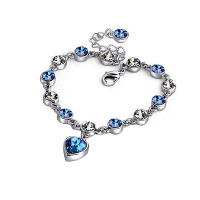 Fashion Minimalism Diamond Hearts Lady Jewelry Bracelet
