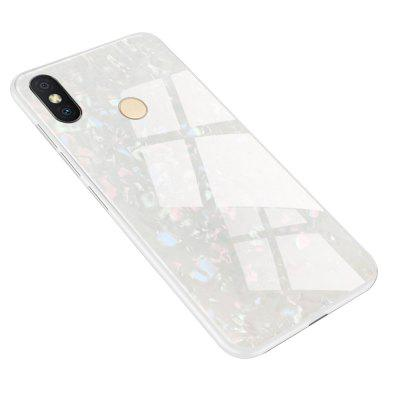 TPU Edge Hard Toughened Glass Protective Back Cover Case for Redmi S2