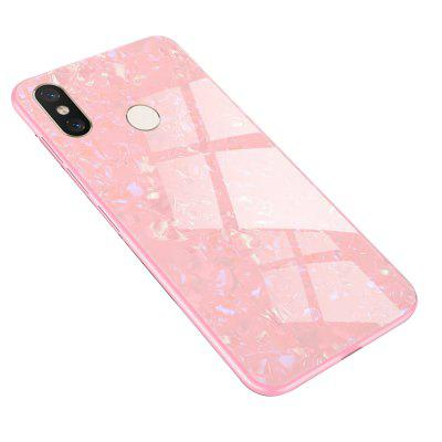 TPU Edge Hard Toughened Glass Protective Back Cover Case for Xiaomi 8