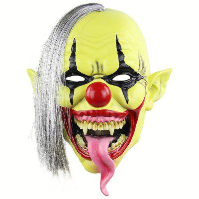 Halloween Green Clown Latex Cosplay Mask Realistic Adult Party Prop