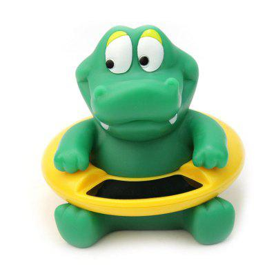 Lovely Crocodile Bathtub Floating Toy Water Thermometer