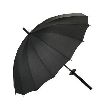 Black Katana Straight Handle Umbrella
