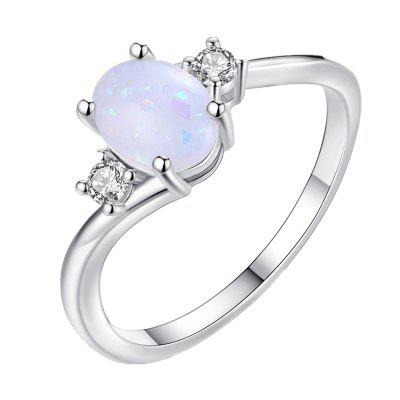Oval Cut Opal Diamond Ring Birthday Gift