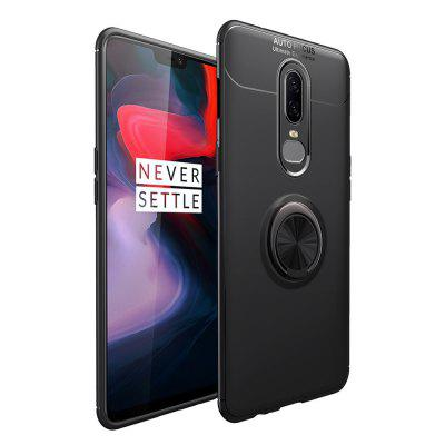Ring Holder Back Cover Shockproof TPU Case for Oneplus 6