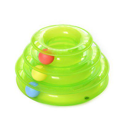 Cat Crazy Ball Disk Interactive Amusement Plate Toy