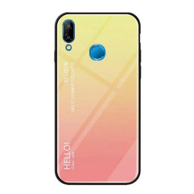 Gradient Tempered Glass Case for Huawei P20 Lite
